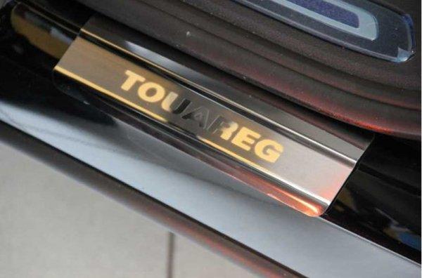 Накладки на пороги Volkswagen TOUAREG Накладки из нержавеющей стали на пороги и задний бампер